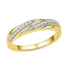 10kt Yellow Gold Womens Round Natural Diamond Simple Band Fashion Ring 110 cttw *** You can get additional details at the image link.Note:It is affiliate link to Amazon.