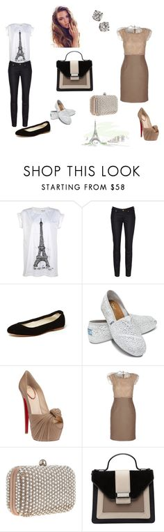 """50 Shades--Ana's closet as I see it.."" by stacy-williams-white ❤ liked on Polyvore featuring Vivienne Westwood, Anniel, TOMS, Christian Louboutin, Valentino, Santi, Mimco and Tiffany & Co."