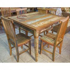 Conjunto Mesa com 4 Cadeiras  Peroba Rosa - 4680