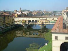 El Ponte Vecchio en Florencia, uno de los lugares más bonitos de los que he visitado...