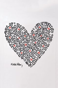 Love by Keith Haring  Keith Allen Haring (May 4, 1958 – February 16, 1990) was an American artist and social activist whose work responded to the New York City street culture of the 1980s by expressing concepts of birth, death, sexuality, and war. Haring's work was often heavily political and his imagery has become a widely recognized visual language of the 20th century.