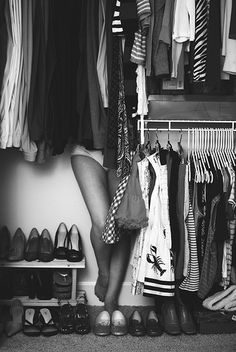 Your closet should be organized enough so you can play hide & seek...;-)