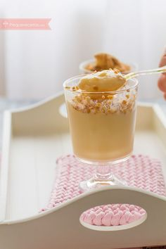 natillas caseras thermomix Cocktail Desserts, Bellini, Cooking With Kids, Churros, Custard, Kids Meals, Panna Cotta, Cake Recipes, Pastel
