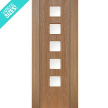 WoodDoor+ Internal Pre-Finished Oak Glazed 5 Light Ara Door Internal Glazed Doors