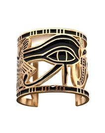Eye of Horus gold arm cuff  something Cleopatra or Nefertiti might wear