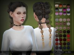 Created By Leah Lillith LeahLillith Scarlett Hair Created for: The Sims 4 Scarlett Hair All LODs smooth bones works wih hats To enjoy the hair properly in game: +set the sims details to very. Sims 4 Tsr, My Sims, Sims Cc, Sims 4 Piercings, The Sims 4 Packs, Sims 4 Black Hair, The Sims 4 Cabelos, Sims 4 Gameplay, Sims Hair