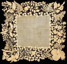Antique Irish lace crochet, circa 1850