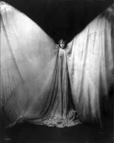 """Loie Fuller (1862–1928) was a pioneer of both modern dance and theatrical lighting techniques. Fuller combined her choreography with silk costumes illuminated by multi-coloured lighting of her own design."""