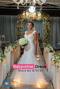 Vestidos De Noiva Sereia 2014 Sexy Lace Mermaid Wedding Dresses Bride Dress
