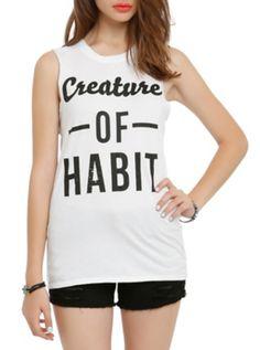 Creature Of Habit Girls Muscle Top