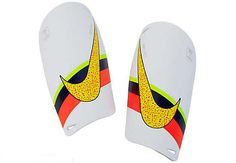 Nike CR7 Mercurial Lite Shin Guards - White with Volt