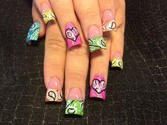 Neon bandana - Nail Art Gallery