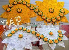 Diandra Arte em Pintura e Crochê: PAP- TRILHO DE MESA RAIO DE SOL