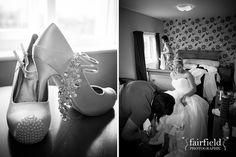 Mytton Fold wedding - bridal preparation photograph