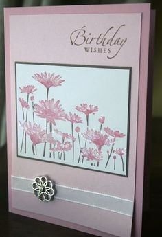 FLOWER STAMP AND BIRTHDAY MESSAGE