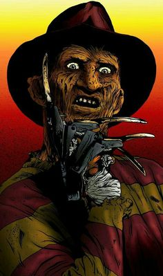 Horror Movie Art : Nightmare On Elm Street ~ Freddy Krueger Horror Art, Horror Movies, Horror Film, Freddy Krueger Costume, Bob Rock, Dark Art Illustrations, Jason Voorhees, Michael Myers, Chucky