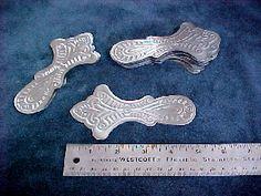 Antique trunk hardware, slat clamps