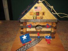 Amvets Log Cabin Veterans Korean Vietnam Bird by RockingBirdhouse