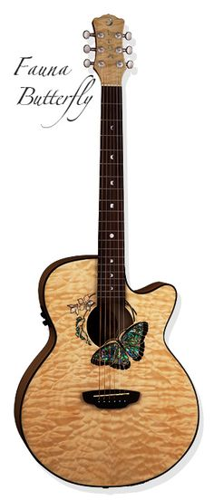 This is the acoustic I want! or something similar... love the butterfly!