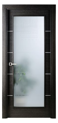 Mia Vetro Italian Wenge Interior Single Door W Frosted Glass