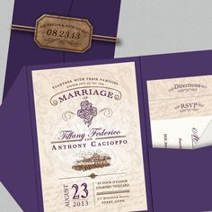 Rustic Vineyard Wedding Invitation by MeganElizabethShop on Etsy, $70.00