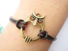 Lovely Owl Wrap Bracelet