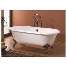 kingston brass double slipper 67inch cast iron clawfoot bathtub satin nickel silver clawfoot bathtub and bathtubs