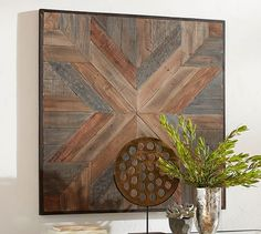 """Planked Quilt Square Wall Art 