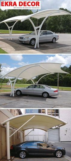 Tensile Structure provides a wide range of Residential & Commercial Parking in India which is widely appreciated by our clients for easy and difficult installation depending on sizes, areas, and many more reasons. Car Park Design, Parking Design, Carport Designs, Pergola Designs, Carport Ideas, Outdoor Shade, Canopy Outdoor, Cantilever Carport, Fire Pit Pergola
