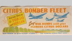 Citrus Bomber Fleet bonds sold in Winter Haven, Florida during WW2.
