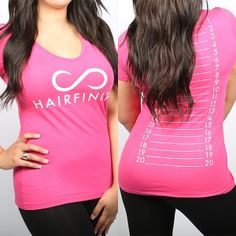 Track your hair's infinite lengths with our pink HAIRFINITY Measurement Shirt: HAIRFINITY logo on the front, ruled measurement lines on the back. Vitamins For Healthy Hair, Healthy Hair Tips, Hair Vitamins, Natural Hair Tips, Natural Hair Styles, Cinnamon Hair Colors, Breaking Hair, Hair Growth Oil, Hair Health