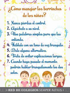 Te compartimos algunos tips para saber manejar respetuosamente los berrinches de los niños. #Somosunequipo