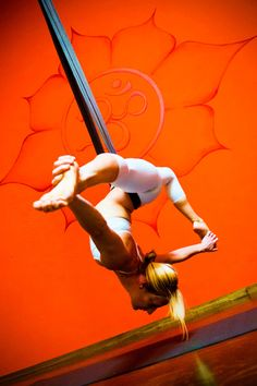 Aireal yoga, elevate your practice above the mat. #yoga #aerial
