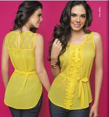 Resultado de imagen para blusas juveniles de moda escotadas de gasa