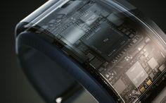 Aufriss (Konzeptzeichnung): Im Armband soll all die Technik stecken, die man...