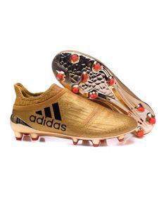 brand new 82bb1 87d52 Adidas X 16 Purechaos FG-AG FODBOLDSTØVLE BLØDT UNDERLAG KUNSTGRÆSMen  fodboldstøvler - guld sort Orange