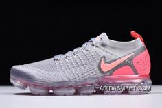 1c06dbe6b695 Women s Nike Air VaporMax Flyknit 2 Atmosphere Grey Crimson Pulse  942843-005 Buy Now