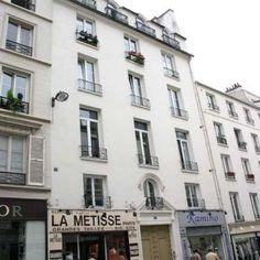 Paris 3e - 61 rue Meslay - Le porche d'une ancienne église baptiste .