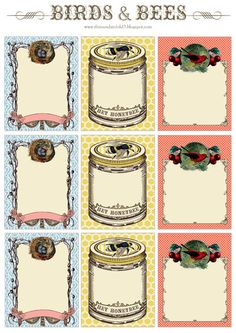 Free printable vintage labels.