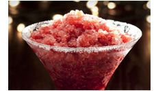 MERRY MARTINI - using Tastefully Simple Samba Sangria Mix: 14 oz. (1 3/4 cups) vodka 16 oz. (2 cups) pomegranate juice 4 cups water  Directions Combine ingredients in bucket; stir to dissolve. Freeze 12-14 hours or overnight. Stir; scoop into glasses. Makes about 8 servings.