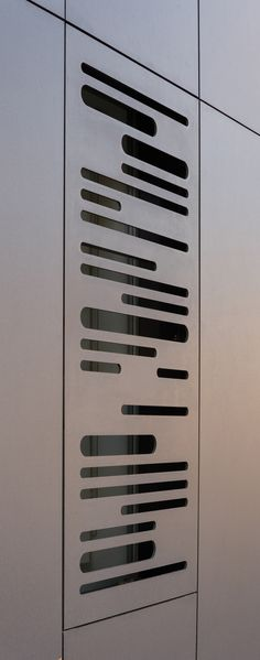 EQUITONE facade panels. Perforated facade detail