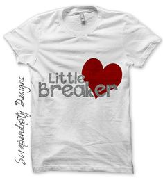 Iron on Heart Breaker Shirt - Boys Iron on Transfer / Boys Valentine Outfit / Toddler Heart Clothes / Red and Grey Valentines Day by ScrapendipityDesigns, $2.50