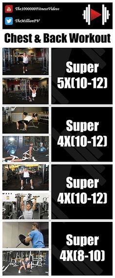 Full Chest Workouts by TheMillionFV-GYM - dailymotion Back Superset Workout, Back Workout Men, Chest And Tricep Workout, Chest And Back Workout, Good Back Workouts, Gym Workouts For Men, Gym Workout Chart, Gym Workout Tips, Chest Workouts