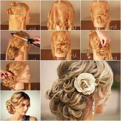 How to Make Red-Carpet Looking Updo Wedding Hairstyle tutorial and instruction. #hairstyle, #Wedding