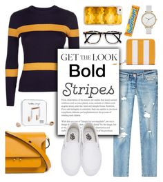 """""""Get The Look: Big Bold Stripes"""" by glamorous09 on Polyvore featuring Balenciaga, True Religion, Jaeger, Bomedo, Vans, Marni, Casetify, Happy Plugs, Skagen and BoldStripes"""