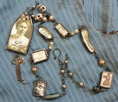 Lizzie Borden memento necklace.  one of a kind.....artist?