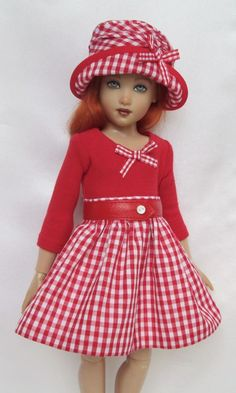 "LARK'S GINGHAM DELIGHT OUTFIT. FOR 14"" KISH CHRYSALIS.MADE BY SSDESIGNS"