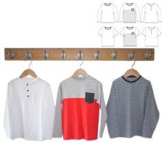 281f97e051117 Patron de couture Pack Tee-shirt MARCEL PDF 3-12A