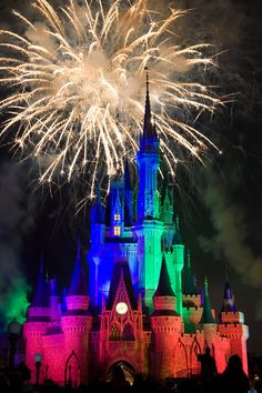 Nothing more magical than fireworks over the Magic Kingdom...  We're going to enjoy it in 7 days !!
