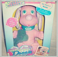 Rub a dub doggie bath toy 80s